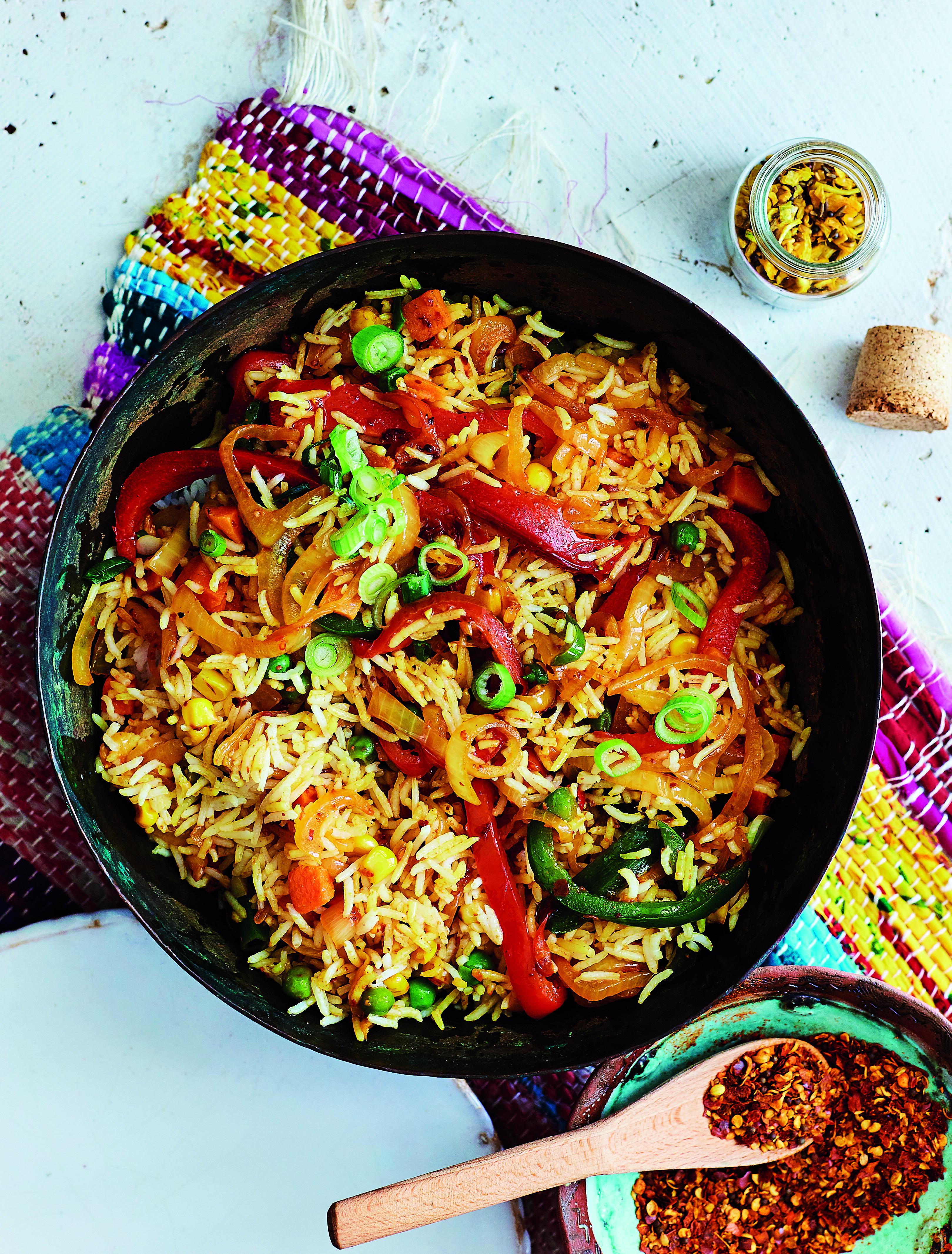 Savoury Rice Gesmoorde Rys Fatima Sydow Cooks